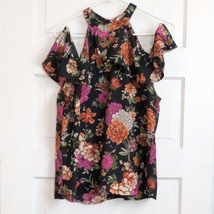 Lily White Floral Off The Shoulder Tank XL
